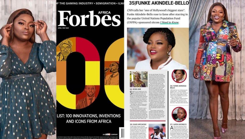 Funke Akindele Forbes list