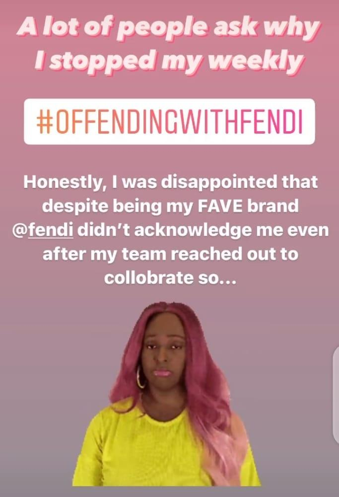DJ Cuppy #offendingwithFendi stopped