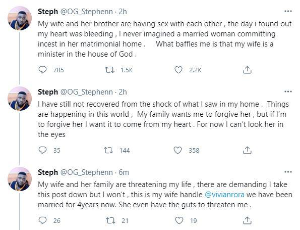 Married man cries out after catching wife in bed with her blood brother