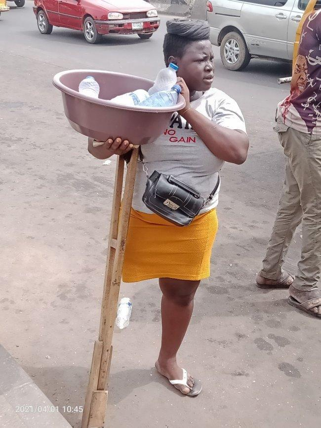 Hawker Amputee Nigerians 'Pure Water' Faked Staged