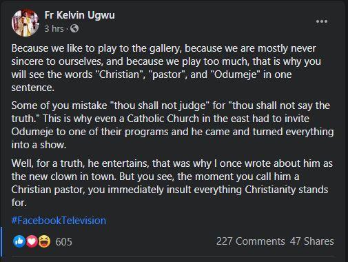 Catholic Priest Odumeje Clown