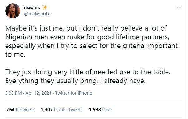 Twitter Nigerian Men Good Life Partners