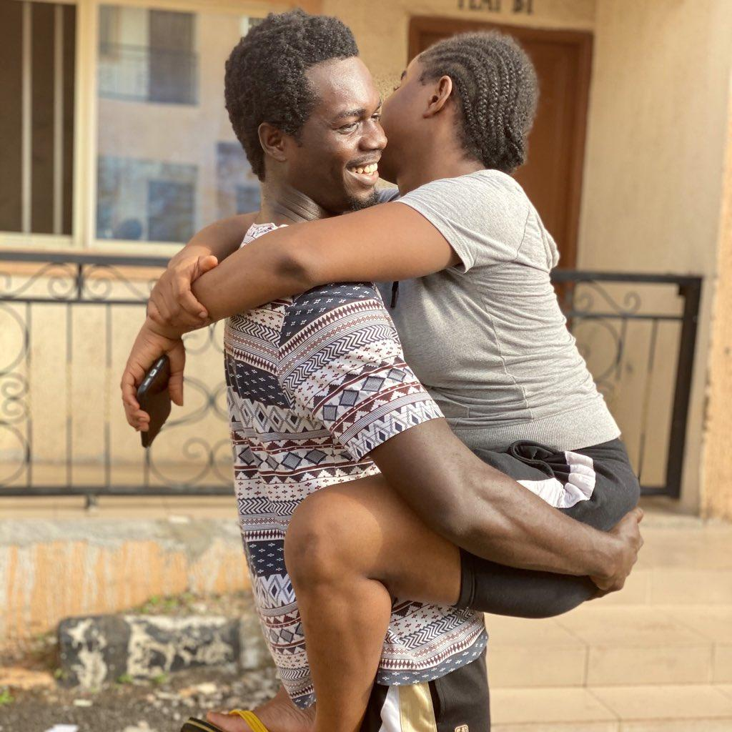 Man who made jest of lady's stature shares loved-up photos with her as his girlfriend