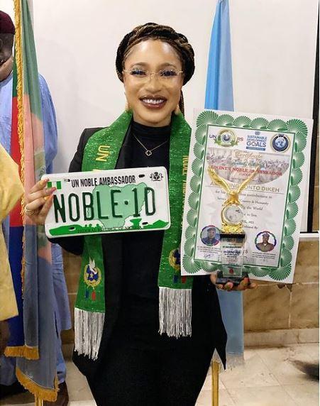 Tonto Dikeh Award United Nations  Fake