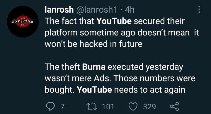 """500K views in 30 minutes, big fraud"" - Burna Boy dragged for buying fake Youtube views"