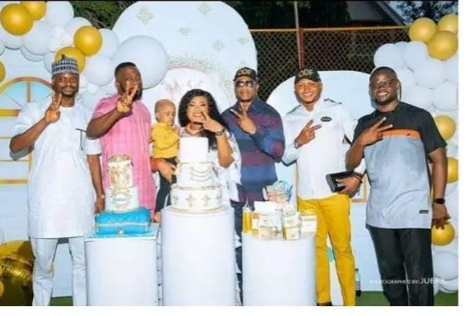 Nkechi Blessing son's birthday