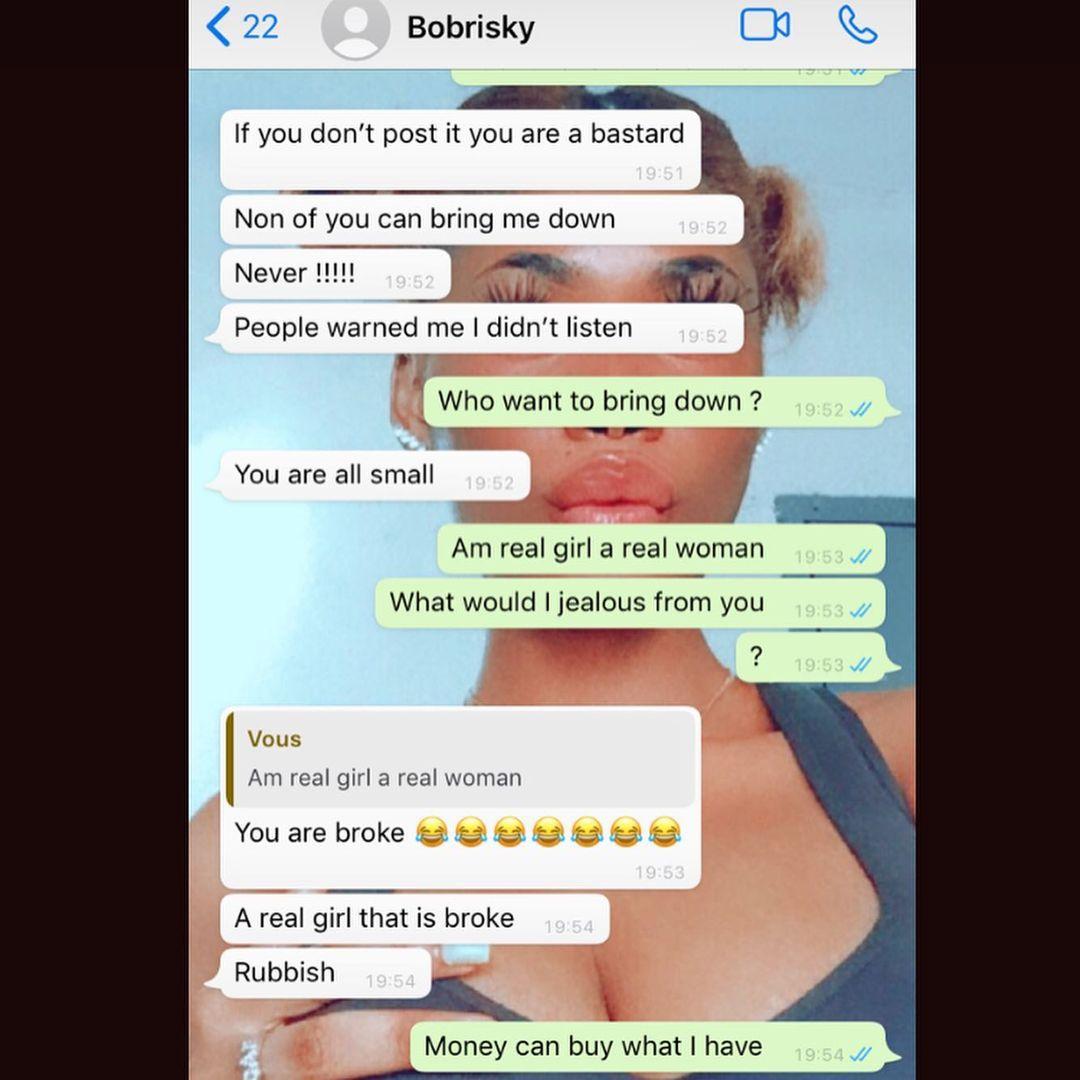 How Bobrisky badmouthed Tonto Dikeh & Iyabo Ojo - Oye Kyme exposes Bob, leaks chat