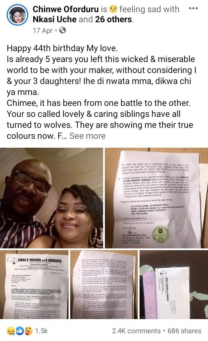 Chinwe oforduru ordeal in-laws