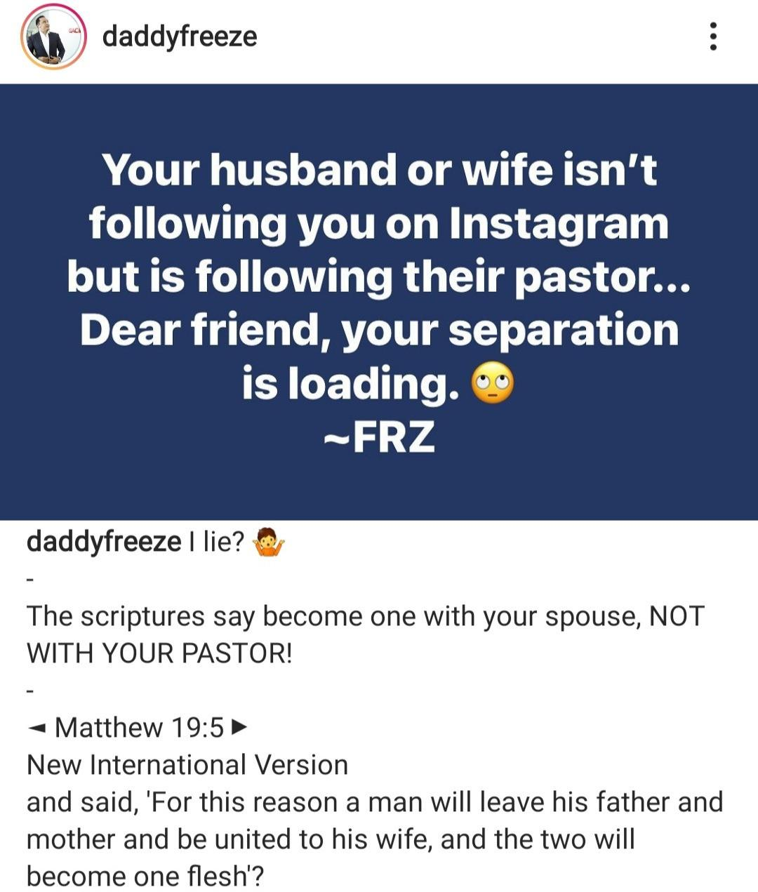 daddy Freeze divorce couples