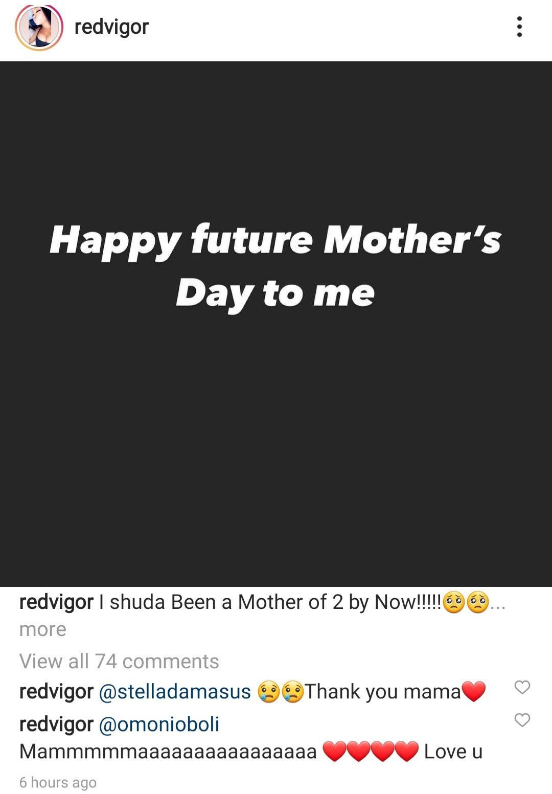 Maureen Esisi future mother's