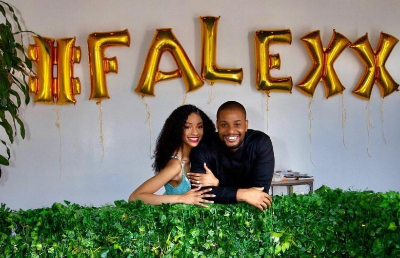 Alex Ekubo's fiancee set-up