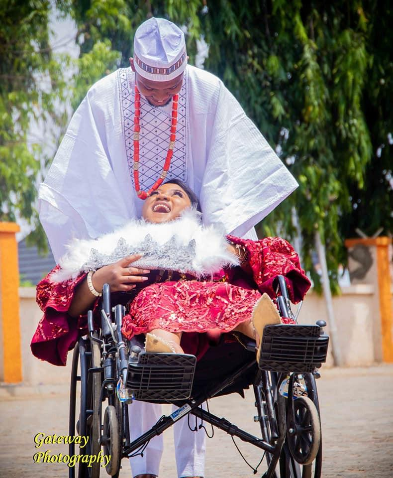physically challenged ties knot