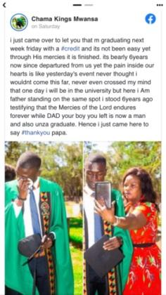 late dad dedicates degree