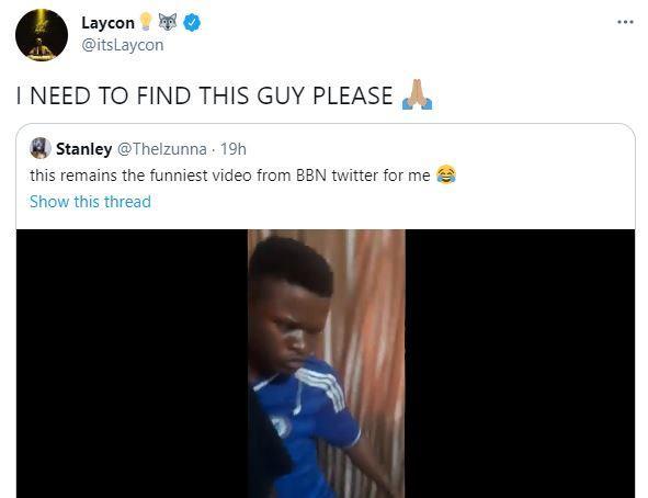 Laycon  search fan beaten