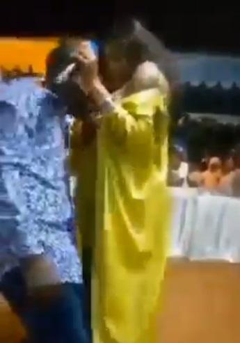 Female prophet gives church member her 'milk factory' to suck, calls it holy milk (Video)