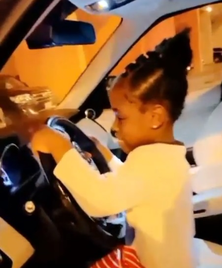 Davido gifts daughter, Imade brand new Range Rover ahead of 6th birthday (Video)