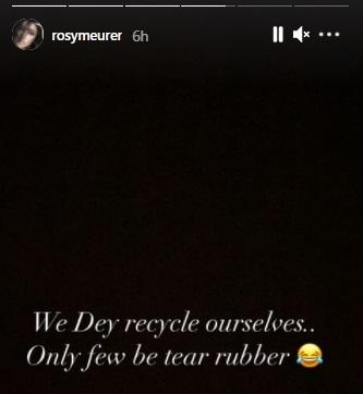 """""""I chop your own, you chop another"""" - Rosy Meurer shades Tonto Dikeh over advice on avoiding exes"""
