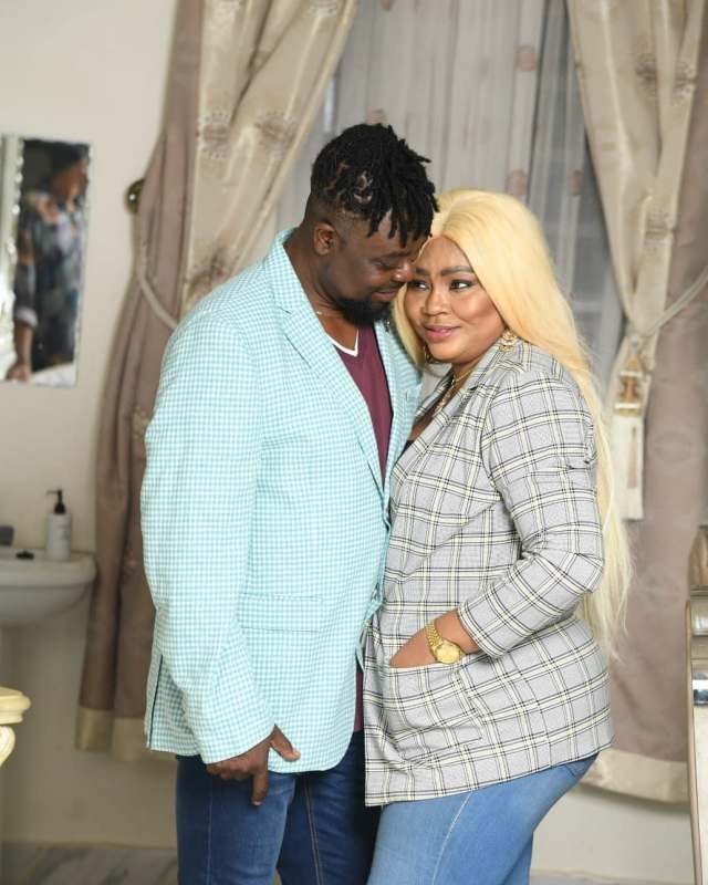 Regina Daniels' brother donates cow as he announces mother's wedding date