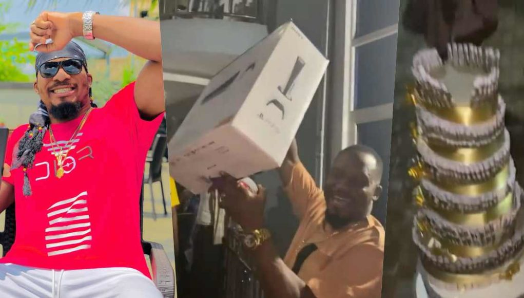 Actor, Jnr Pope gets N1M, PS5 & designer wristwatch as early birthday gift from wife (Video)