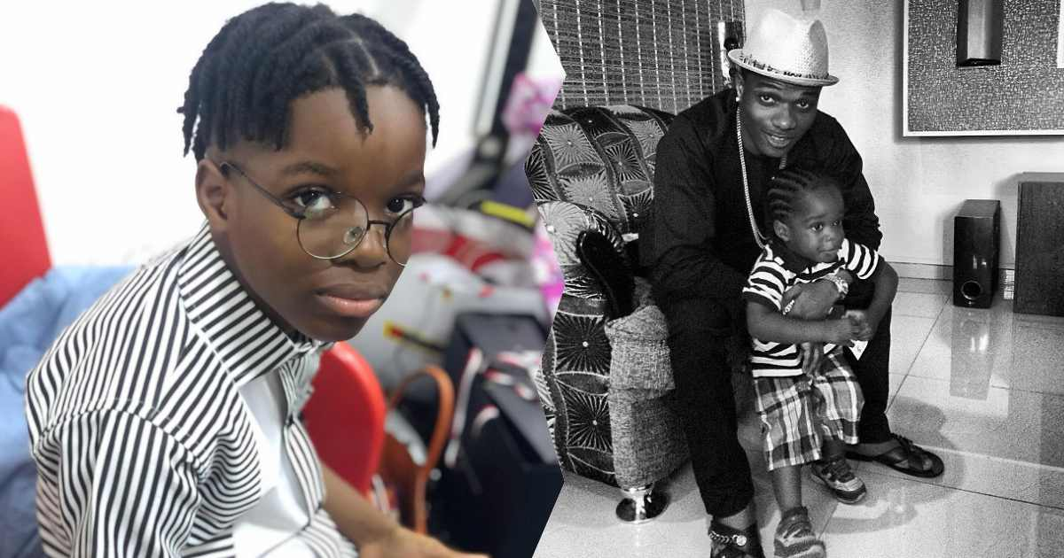 Wizkid's son, Boluwatife jubilates ahead of 10th birthday, shares throwback photo with his father