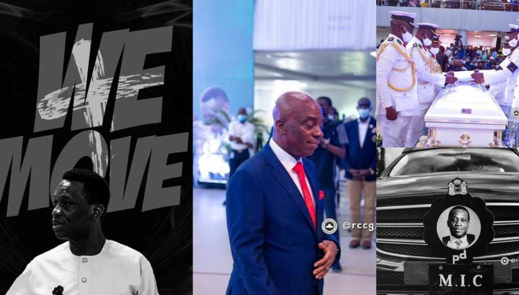 Pastor Oyedepo, and others grace the burial of Dare Adeboye (Photos)