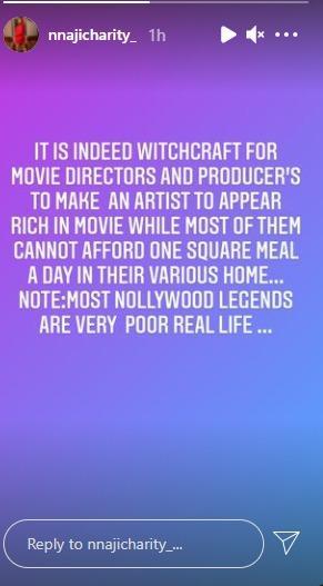 Charity Nnaji poor actors