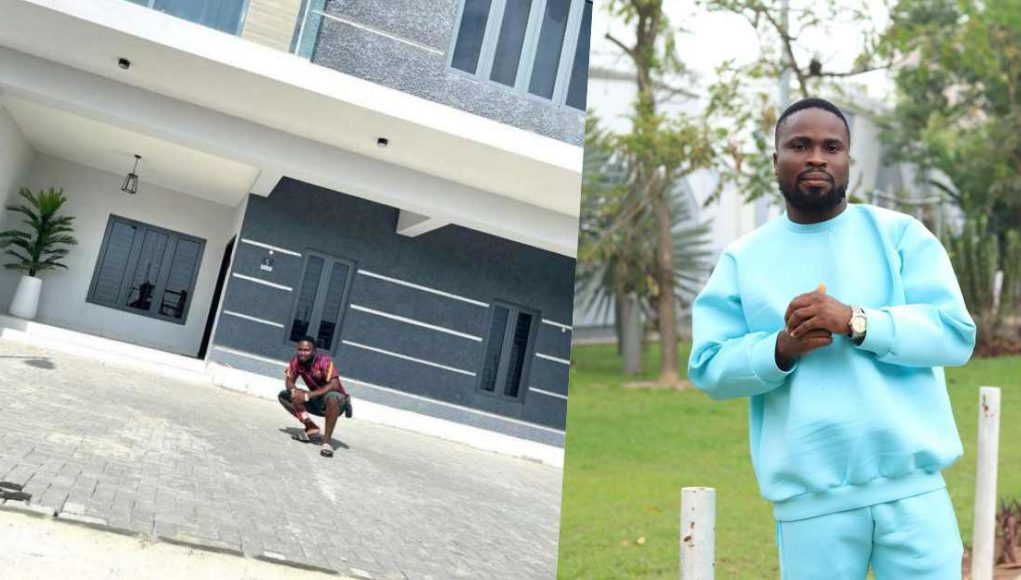 Comedian, Sir Balo becomes a house owner (Photos)