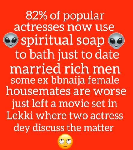 """""""82% of actresses use spiritual soap to get rich men, BBNaija stars are worse"""" - Uche Maduagwu"""