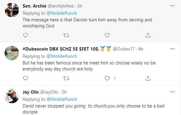 """You see him as your god"" - Reactions as Peruzzi says he hasn't been to Church since he met Davido"