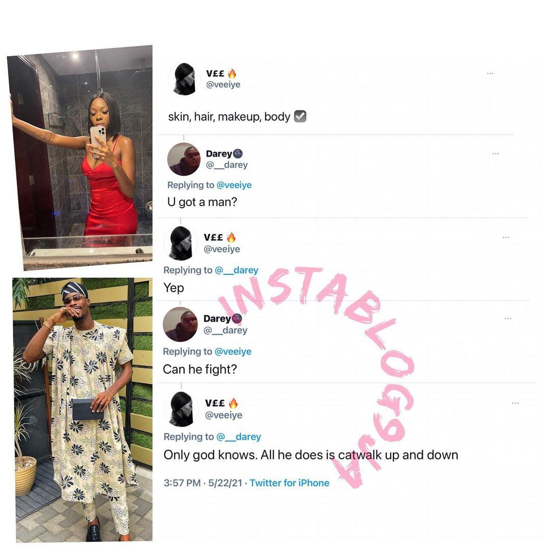 All Neo does is to catwalk, I don't know if he can fight - Vee tells prospective admirer