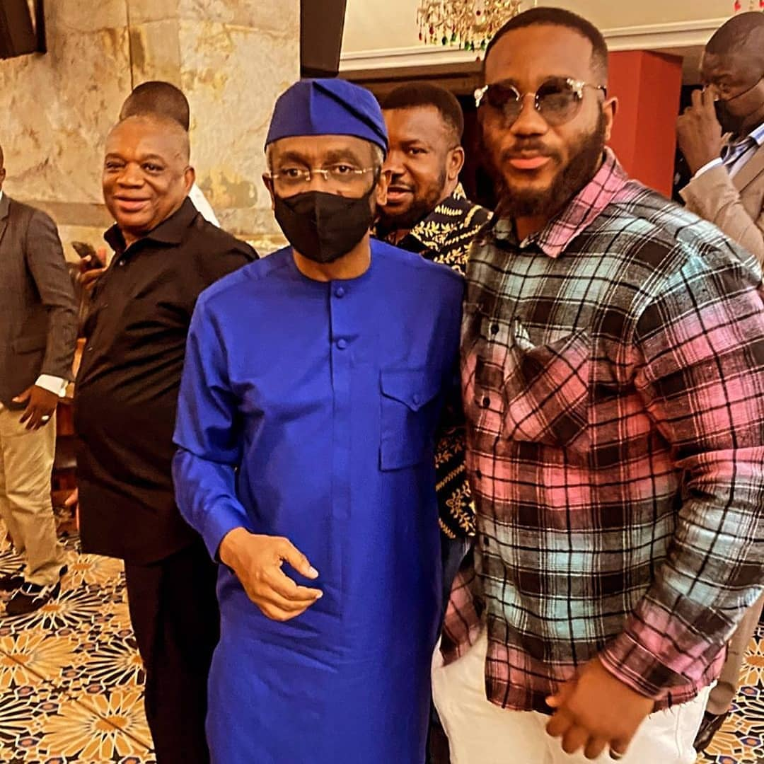 Top Nigerian politicians attend Kiddwaya's dad, Terry Waya's birthday dinner (Photos)