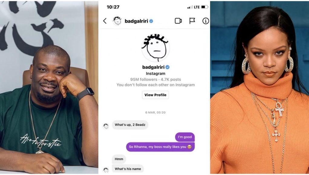 Don Jazzy Rihanna chat