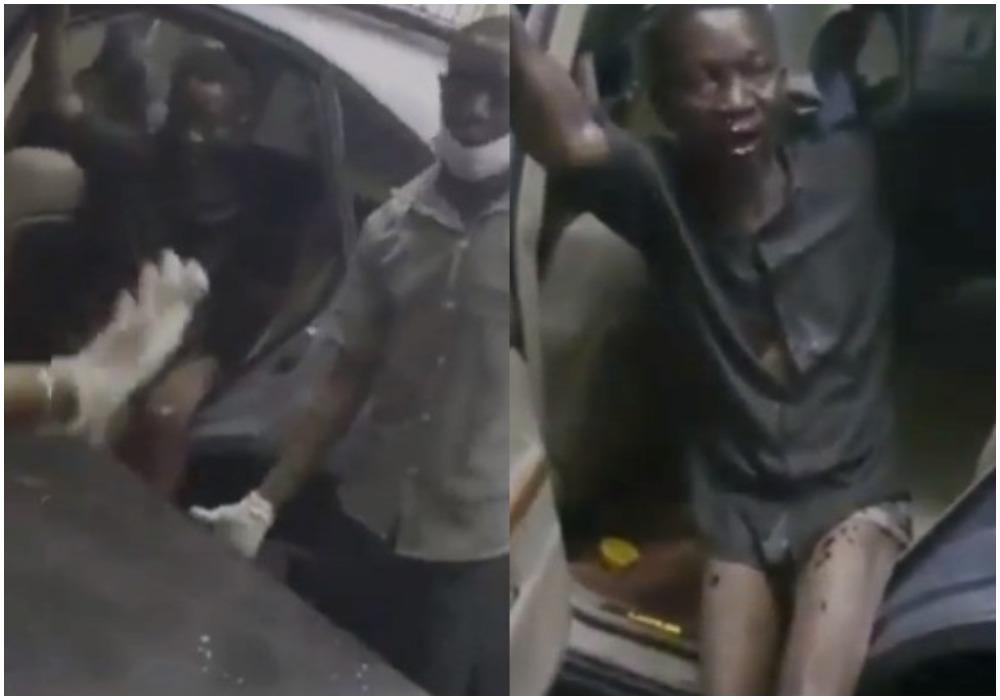 Moment Nigerians forced a government hospital to accept a patient they rejected (Video)