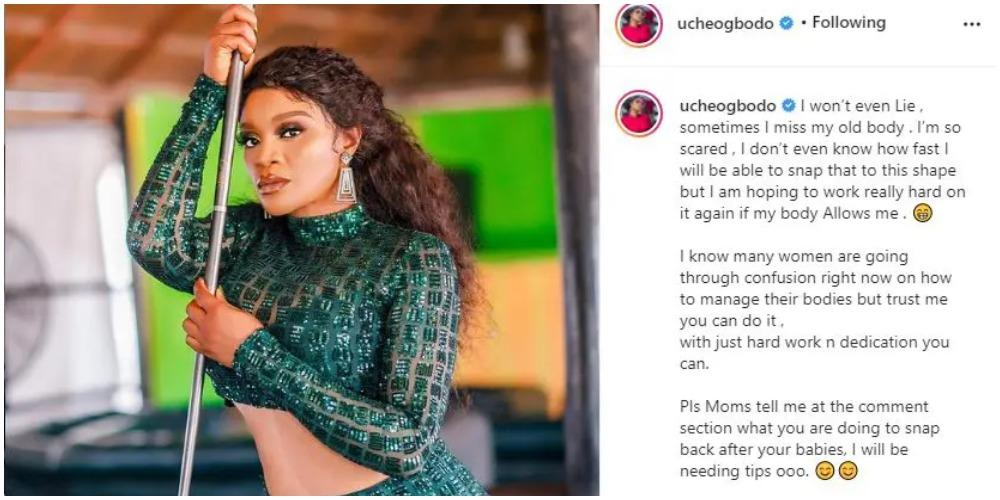 'I miss my old body, I'm so scared - Actress Uche Ogbodo shares concern over her postpartum body