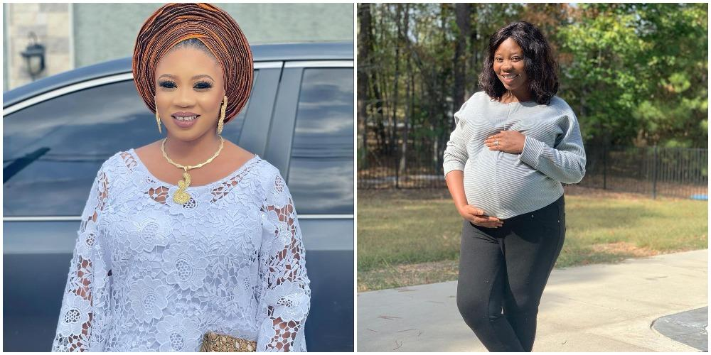 Yoruba Actress, Wunmi Toriola shares throwback photo of when she was pregnant, showers prayers on pregnant women