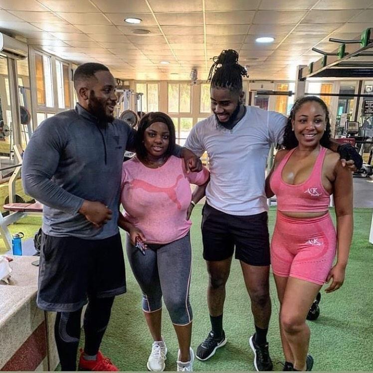 BBNAIJA: Erica, Kiddwaya, Dorathy and Praise reunite at the gym (Video)