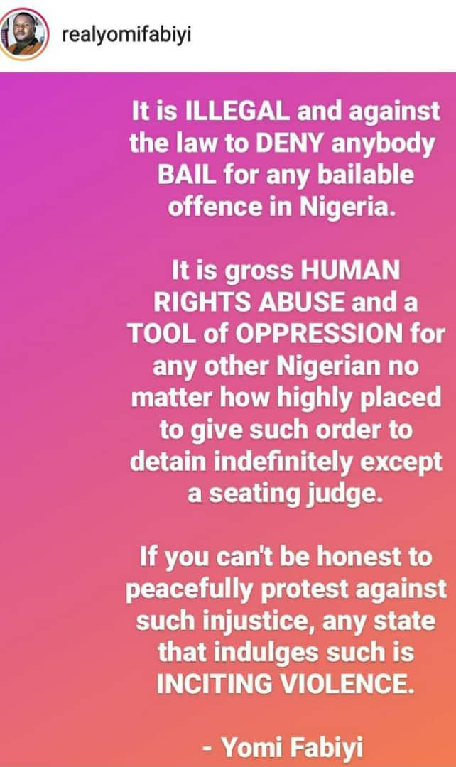 """""""Release Baba Ijesha now! It's his right to be freed on bail"""" - Yomi Fabiyi calls for protest (Video)"""