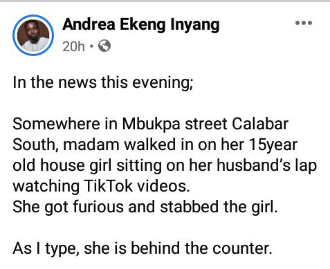 house girl stabbed