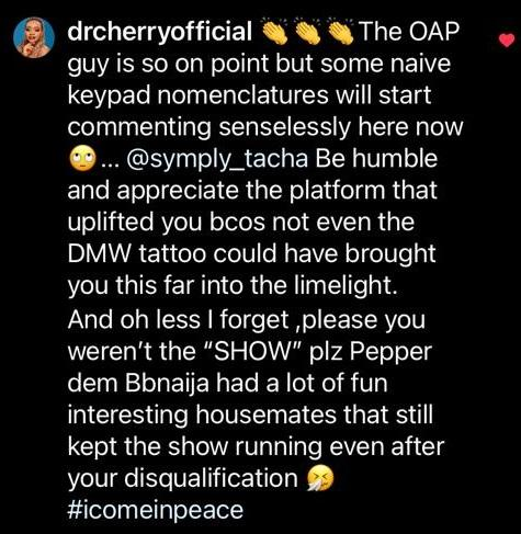 """""""Even DMW tattoo did not help you to stardom"""" - Dr Cherry & N6 drag Tacha to filth"""