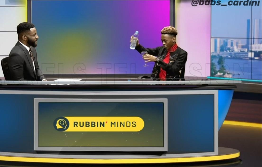 Moment Nigerian magician turned water into wine during interview with Ebuka (Video)