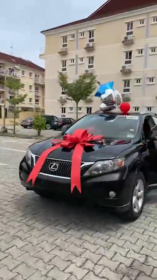 Denrele Edun gets a Lexus SUV as gift in celebration of his 40th birthday (Video)