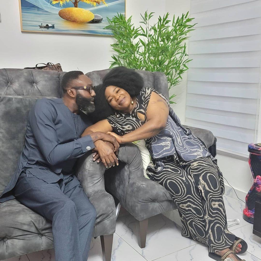 Actress Ada Ameh shows off the man in her life, George Deegha (Photo)