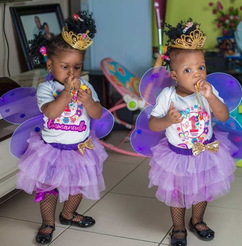 Couple celebrates first birthday of their twins after 17 years of waiting and 3 years of pregnancy