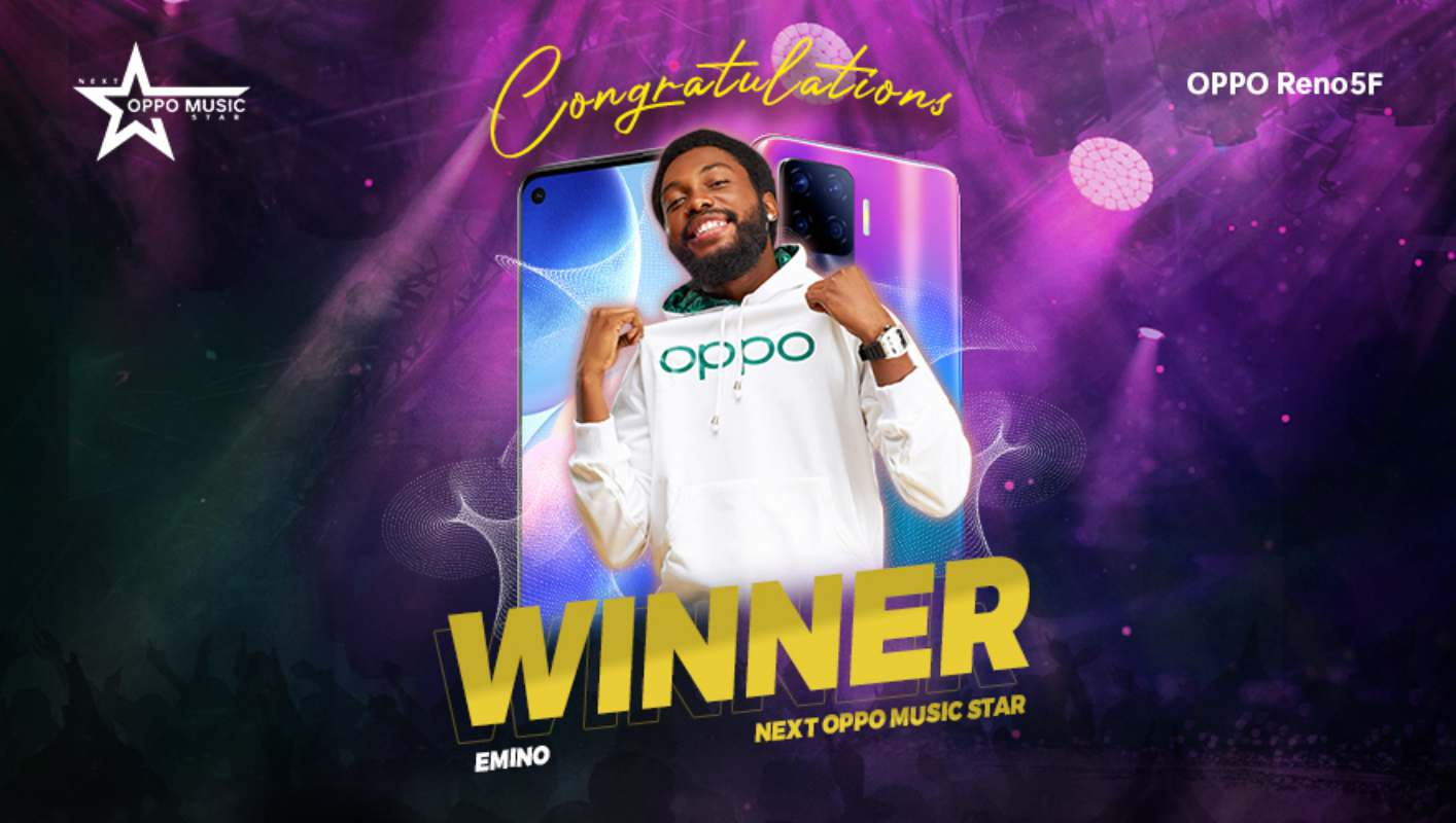 Nnaemeka Frank a.k.a Emino Emerges the Winner of the Reno5F #NextOPPOMusicStar Contest