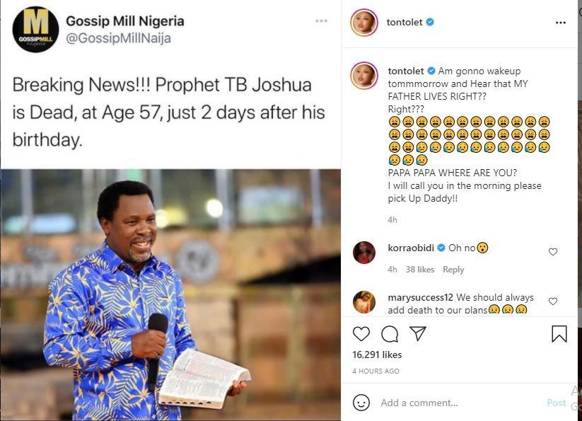 TB Joshua dead