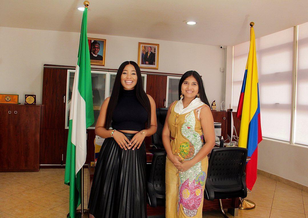 BBNaija's Erica pays a courtesy visit to the consul of Columbia to Nigeria (Photos)