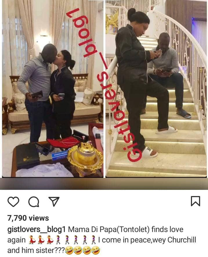 """""""Thank you for making me a better woman"""" - Tonto Dikeh celebrates birthday of her new lover with giant cake"""