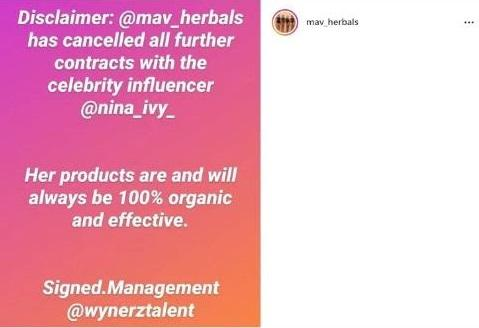 Nina Ivy loses endorsement deal after for undergoing plastic surgery