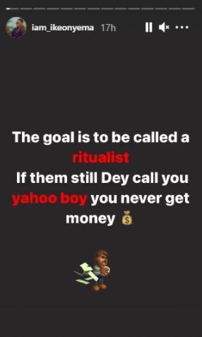 Ike Onyema ritualist goal