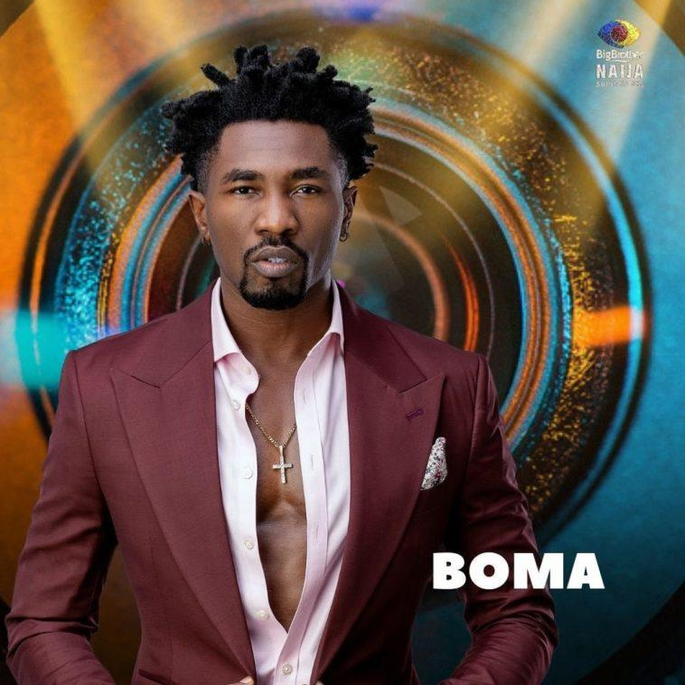 #BBNaija: Moment Maria locked lips with Boma out of the blue (Video)